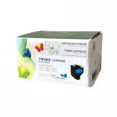 Recyclée Lexmark 71B10C0, Cyan (2.3K), Ecotone (HD)
