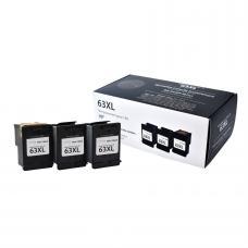 HP63 XL Noir (3 cartouches, 1 tête)